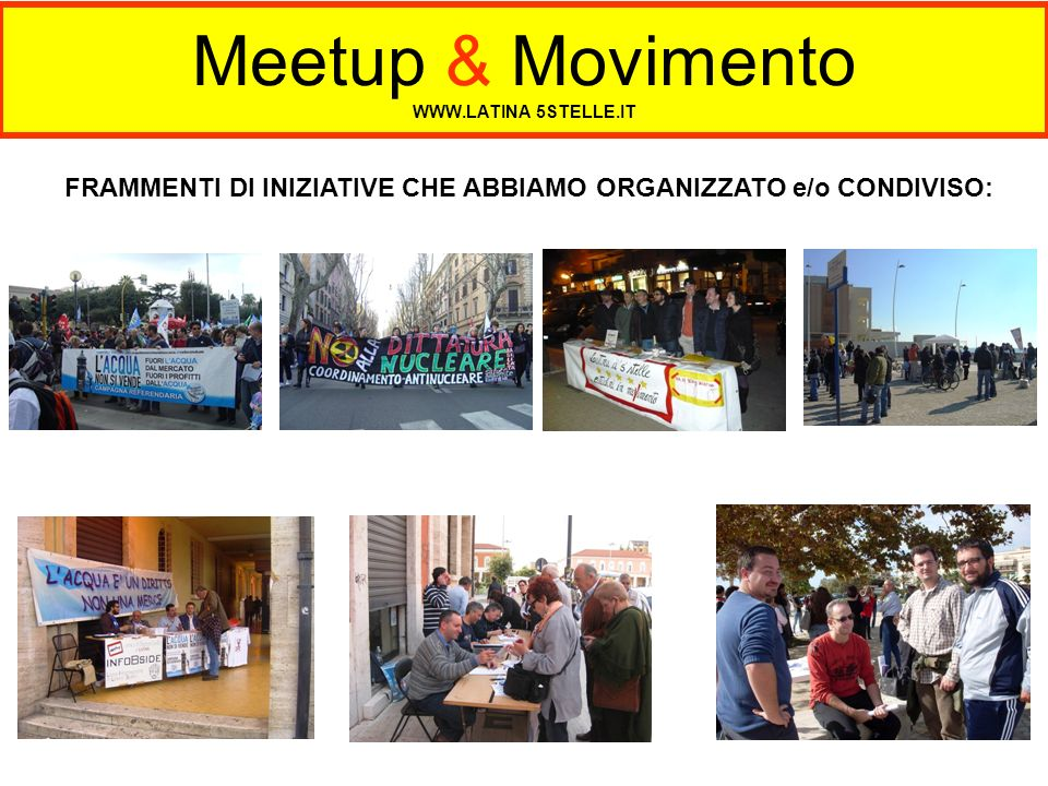 Meetup & Movimento WWW.LATINA 5STELLE.IT