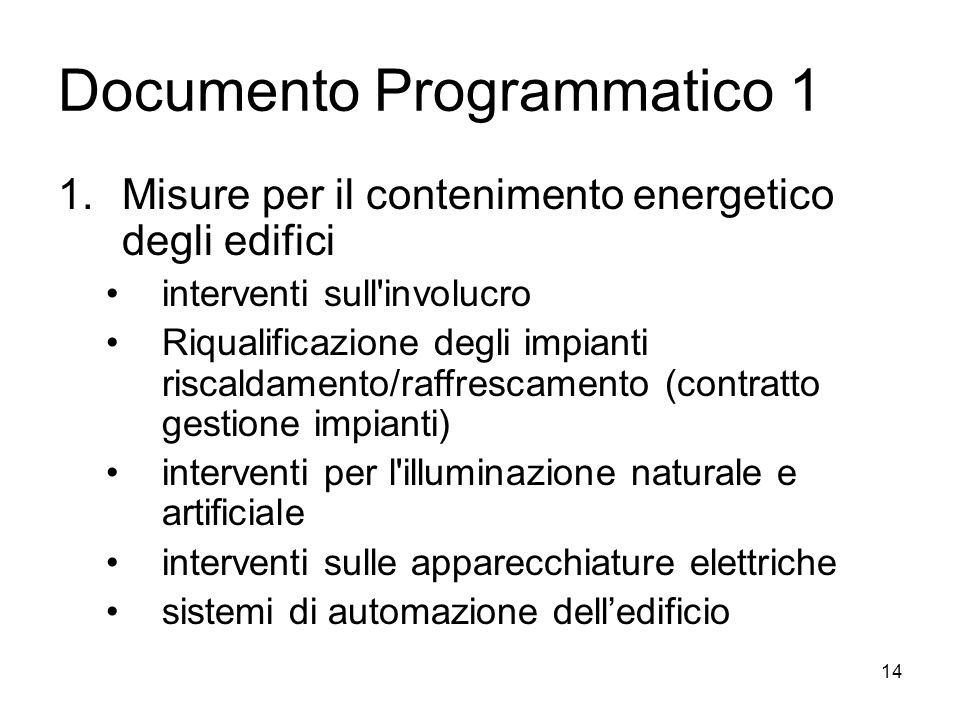 Documento Programmatico 1