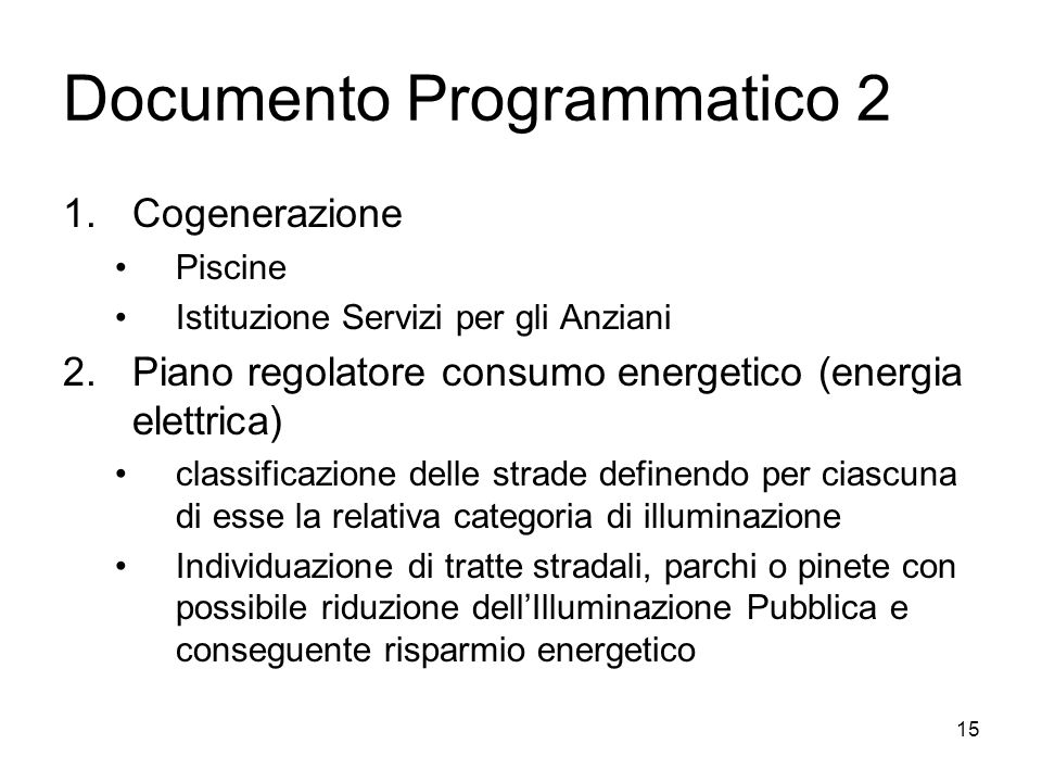 Documento Programmatico 2