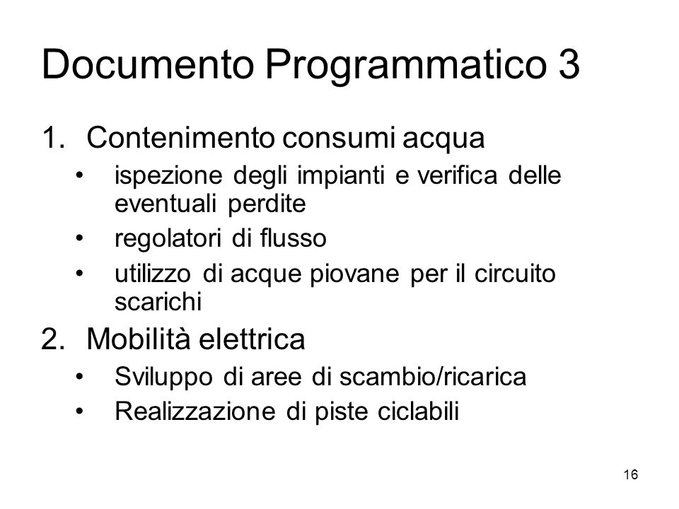 Documento Programmatico 3