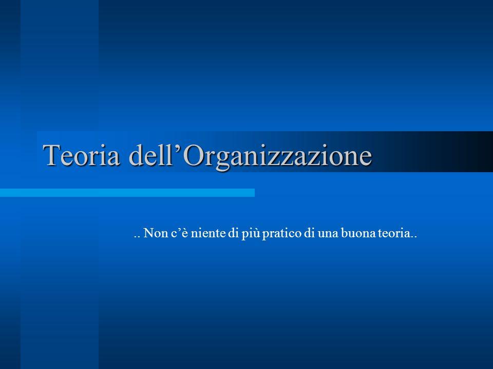 Teoria dell'Organizzazione