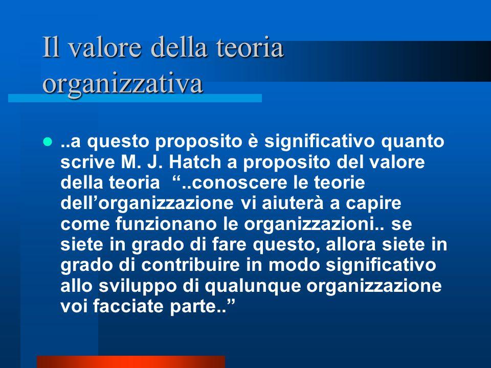 Il valore della teoria organizzativa