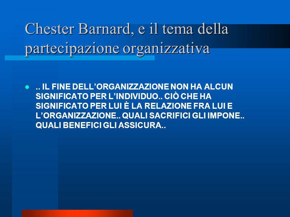 Chester Barnard, e il tema della partecipazione organizzativa