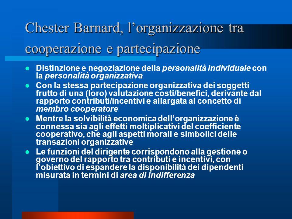 Chester Barnard, l'organizzazione tra cooperazione e partecipazione