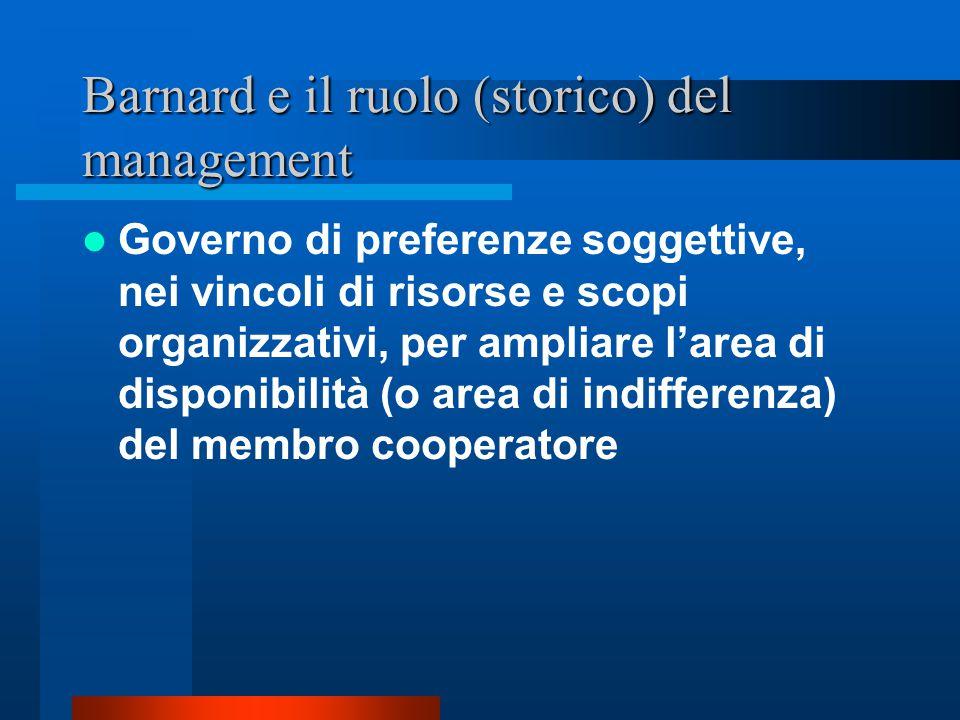 Barnard e il ruolo (storico) del management