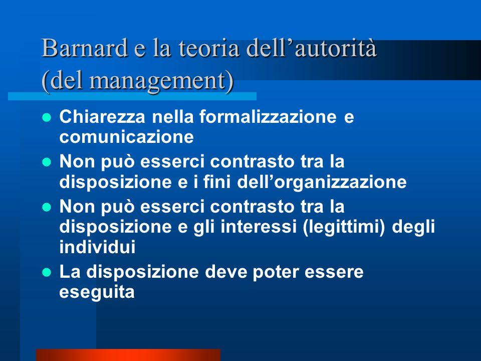 Barnard e la teoria dell'autorità (del management)