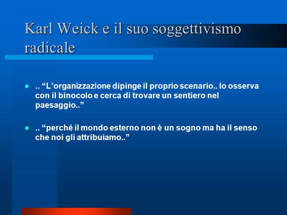 Karl Weick e il suo soggettivismo radicale