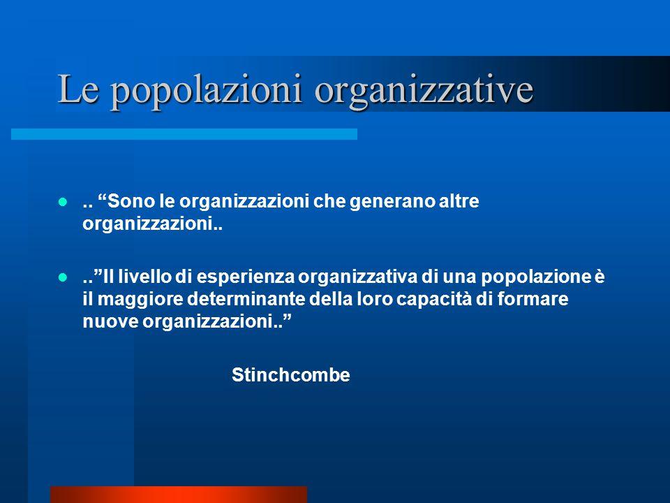 Le popolazioni organizzative