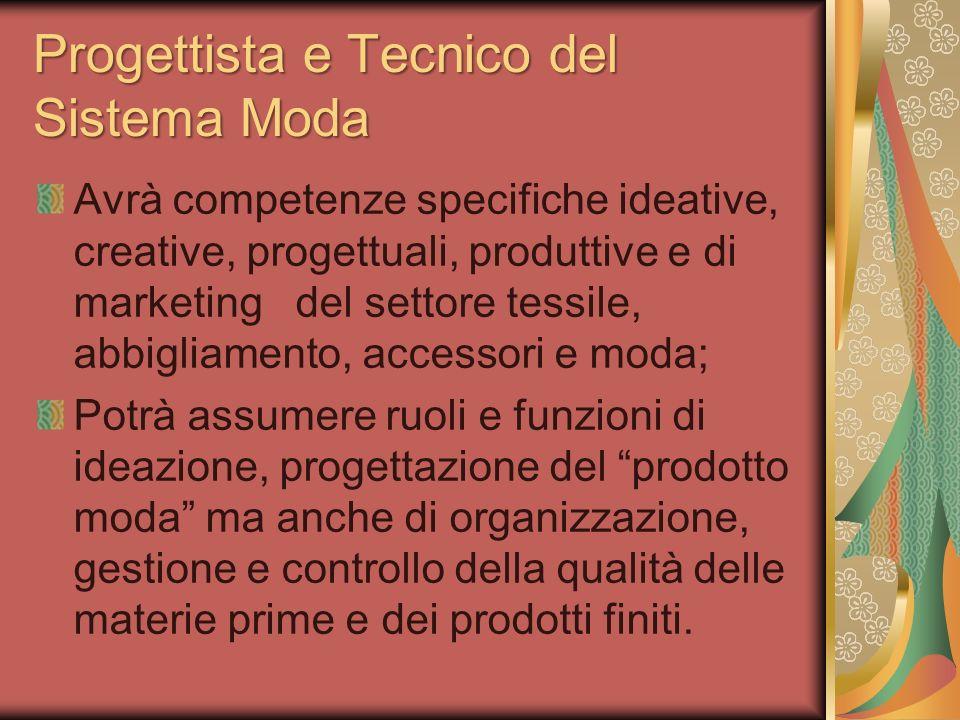 Progettista e Tecnico del Sistema Moda