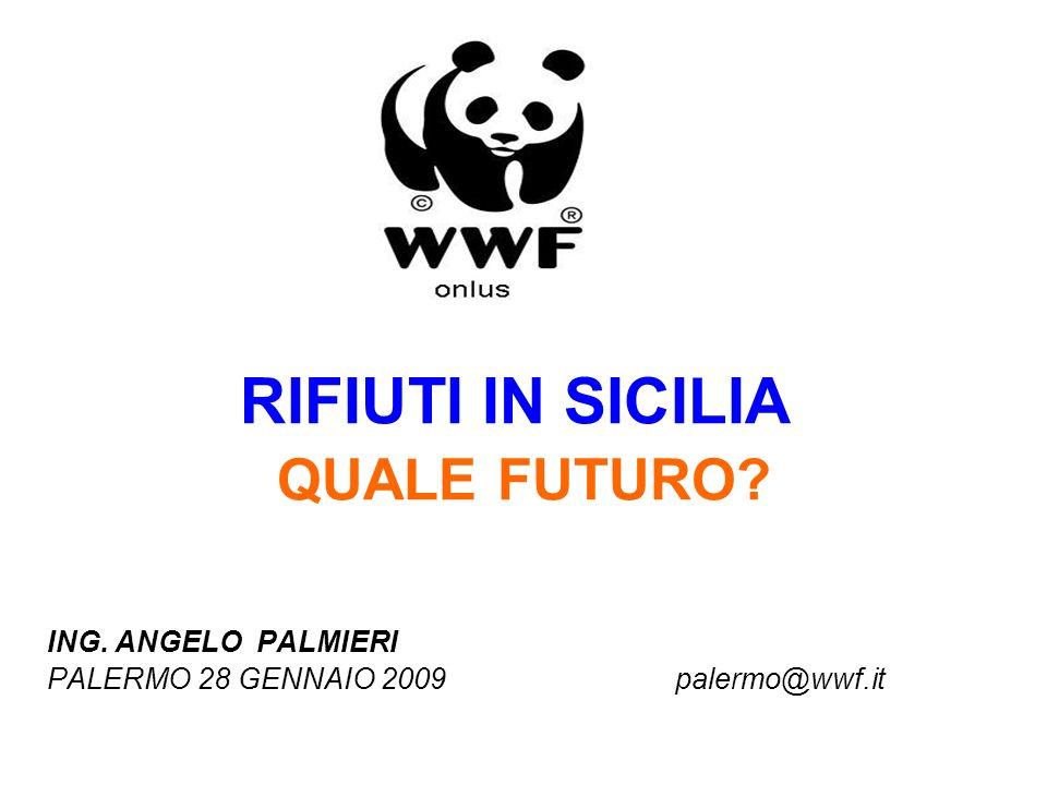 RIFIUTI IN SICILIA QUALE FUTURO