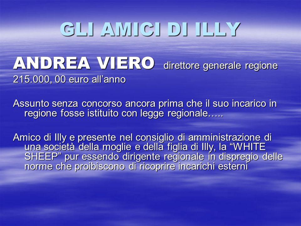 GLI AMICI DI ILLY ANDREA VIERO direttore generale regione