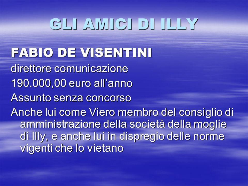 GLI AMICI DI ILLY FABIO DE VISENTINI direttore comunicazione