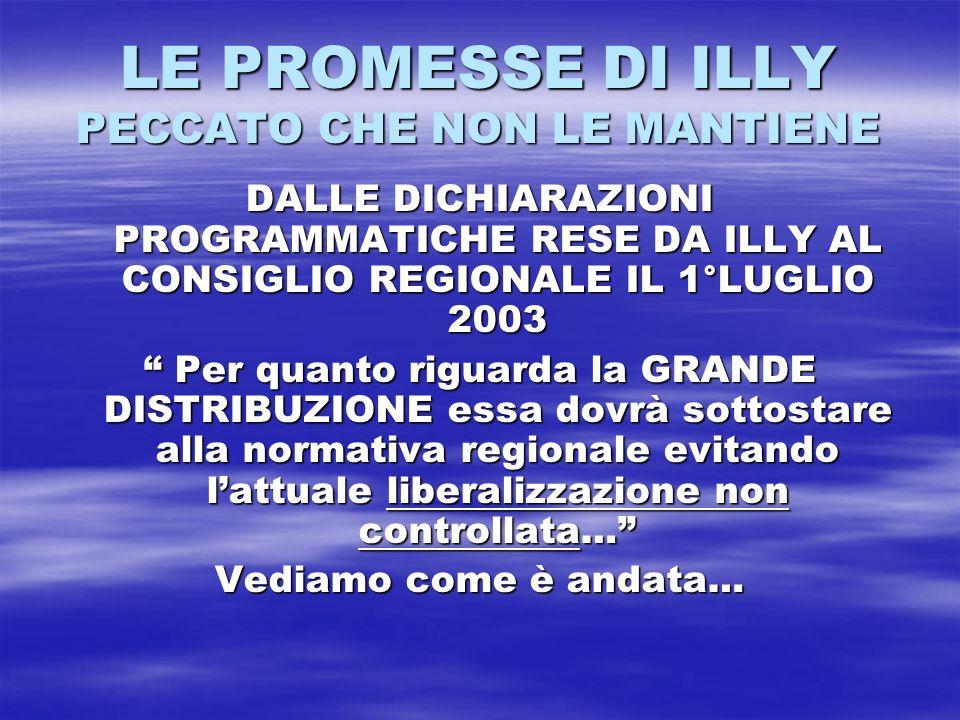 LE PROMESSE DI ILLY PECCATO CHE NON LE MANTIENE