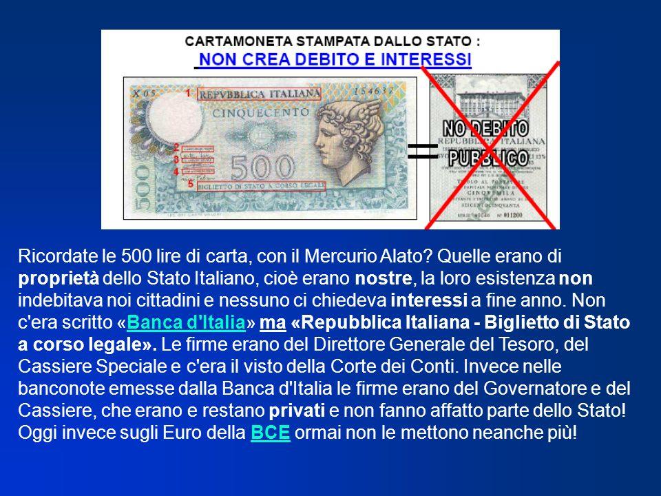 Ricordate le 500 lire di carta, con il Mercurio Alato