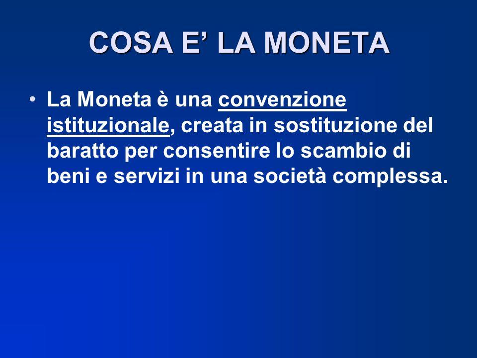 COSA E' LA MONETA