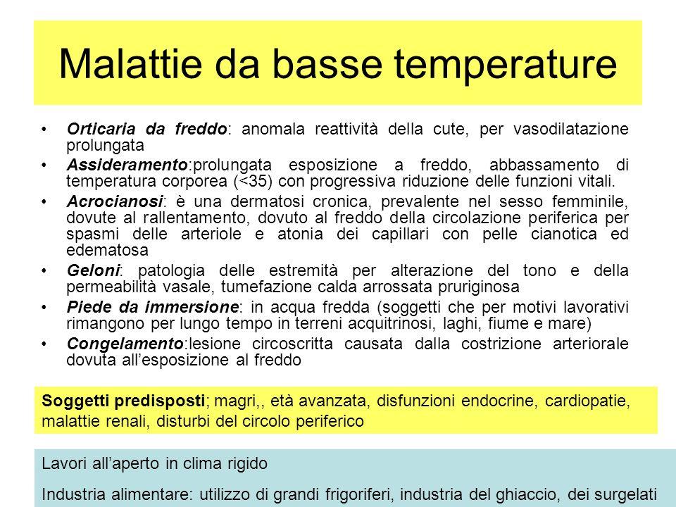 Malattie da basse temperature