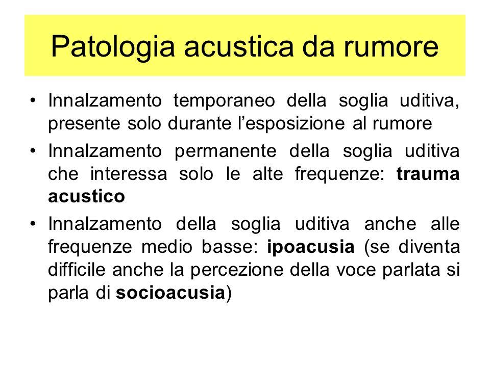Patologia acustica da rumore