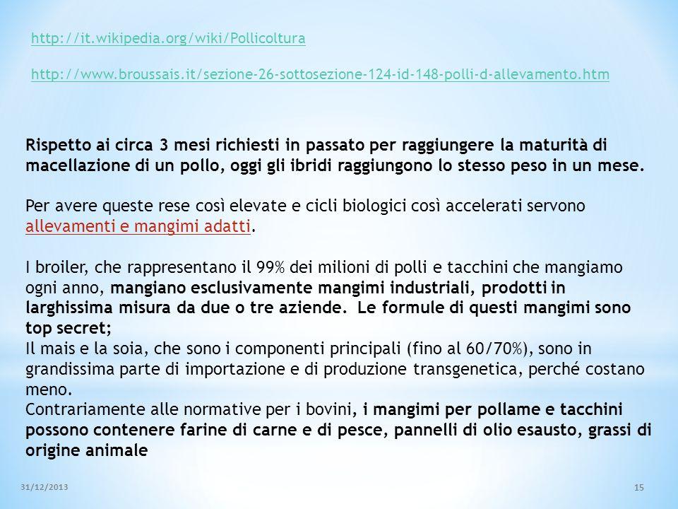 http://it.wikipedia.org/wiki/Pollicoltura http://www.broussais.it/sezione-26-sottosezione-124-id-148-polli-d-allevamento.htm.