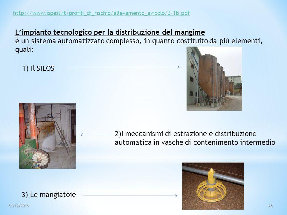 L'impianto tecnologico per la distribuzione del mangime
