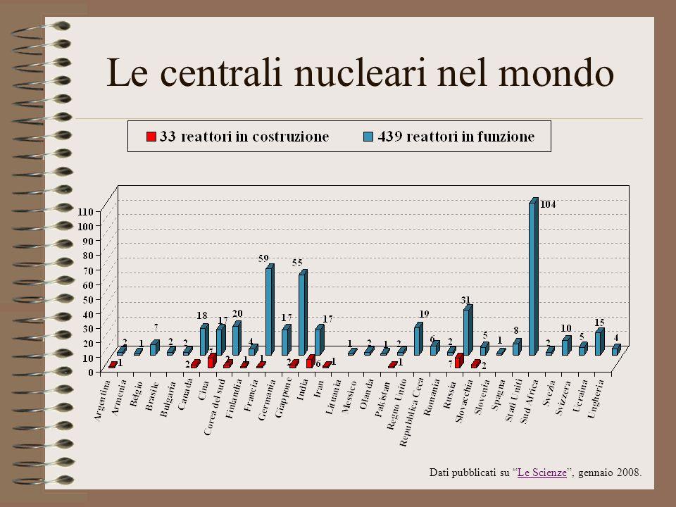 Le centrali nucleari nel mondo