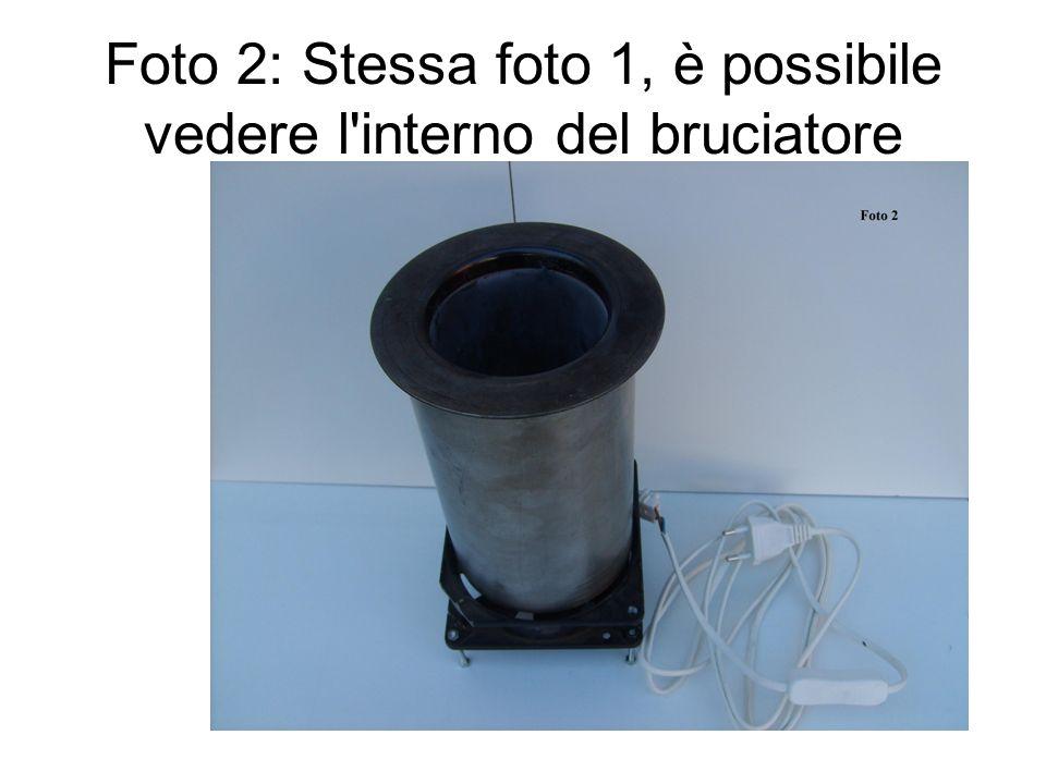 Foto 2: Stessa foto 1, è possibile vedere l interno del bruciatore