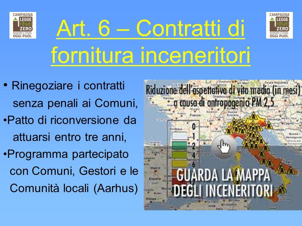 Art. 6 – Contratti di fornitura inceneritori