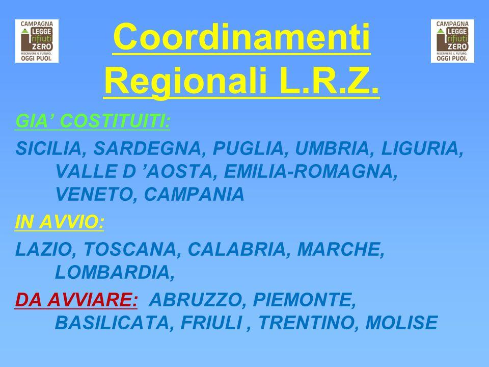 Coordinamenti Regionali L.R.Z.