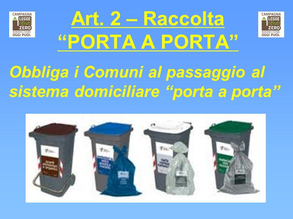 Art. 2 – Raccolta PORTA A PORTA