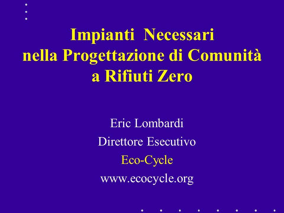 Impianti Necessari nella Progettazione di Comunità a Rifiuti Zero