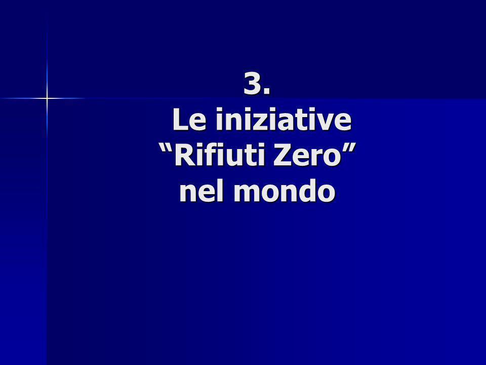 3. Le iniziative Rifiuti Zero nel mondo