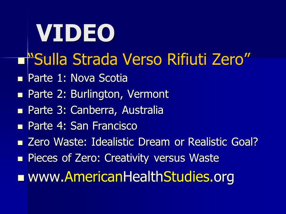 VIDEO Sulla Strada Verso Rifiuti Zero www.AmericanHealthStudies.org