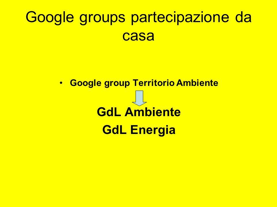 Google groups partecipazione da casa