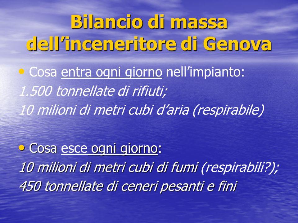 Bilancio di massa dell'inceneritore di Genova