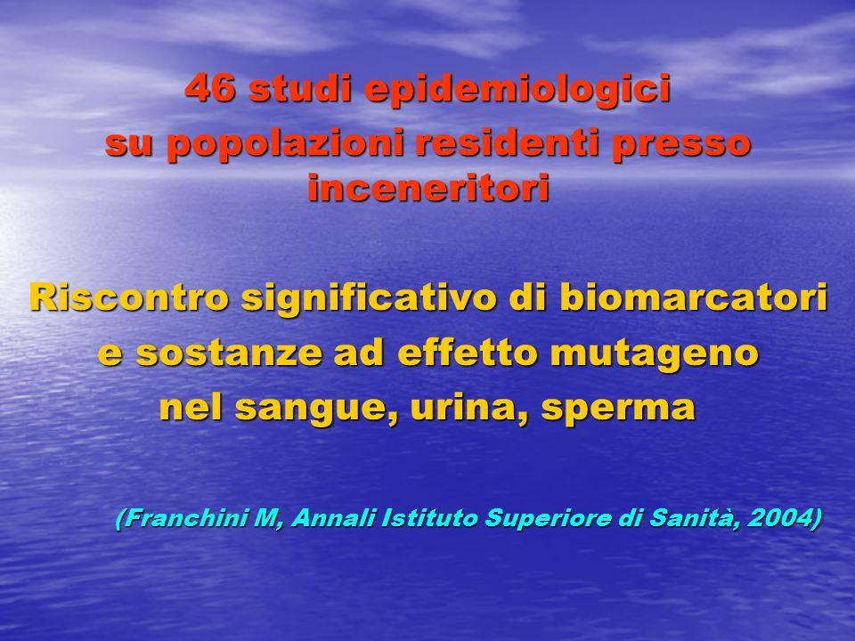 (Franchini M, Annali Istituto Superiore di Sanità, 2004)