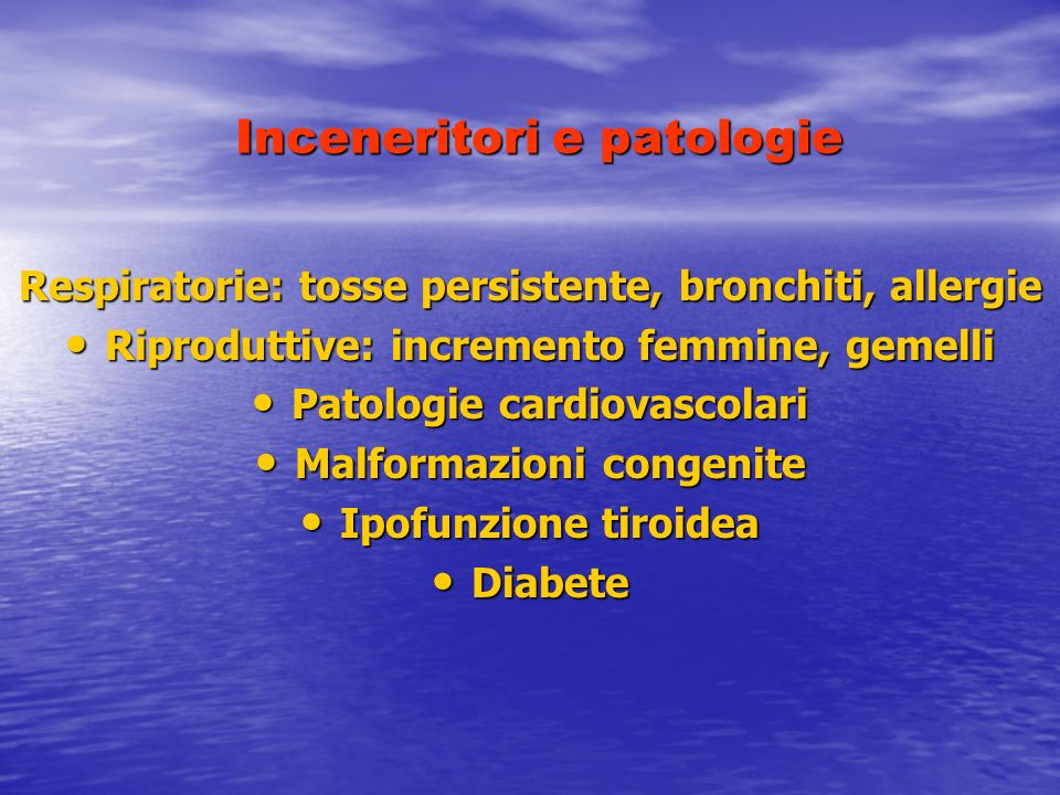 Inceneritori e patologie