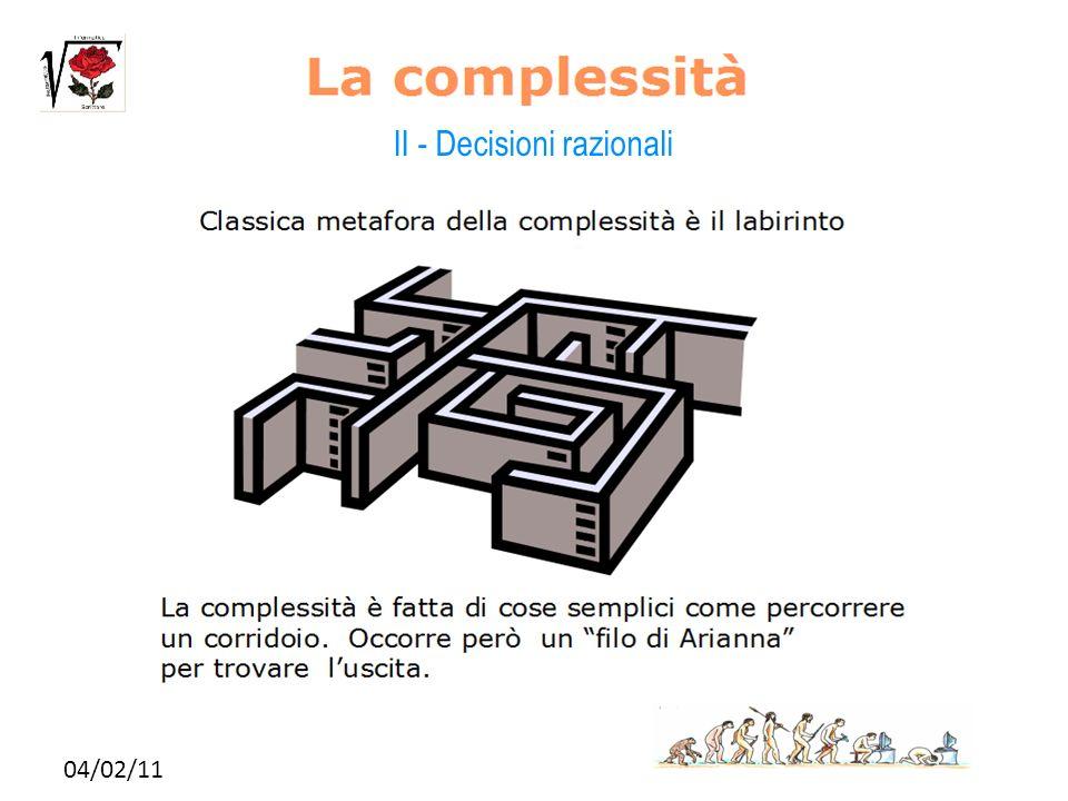 II - Decisioni razionali