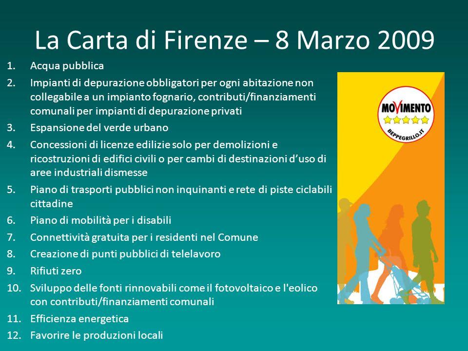La Carta di Firenze – 8 Marzo 2009