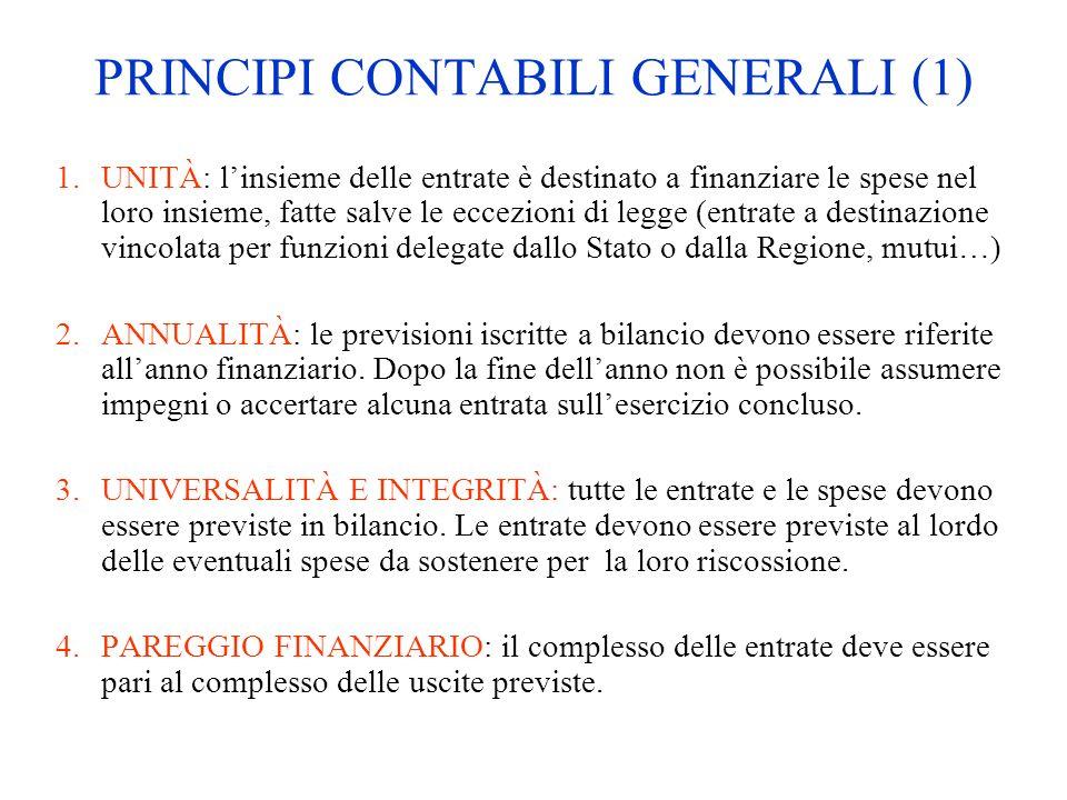 PRINCIPI CONTABILI GENERALI (1)