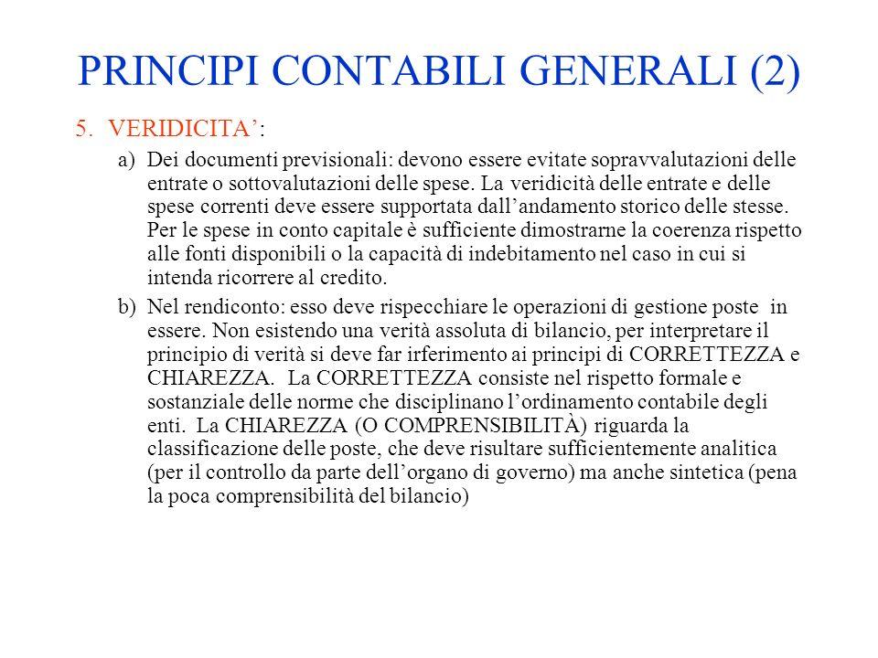 PRINCIPI CONTABILI GENERALI (2)