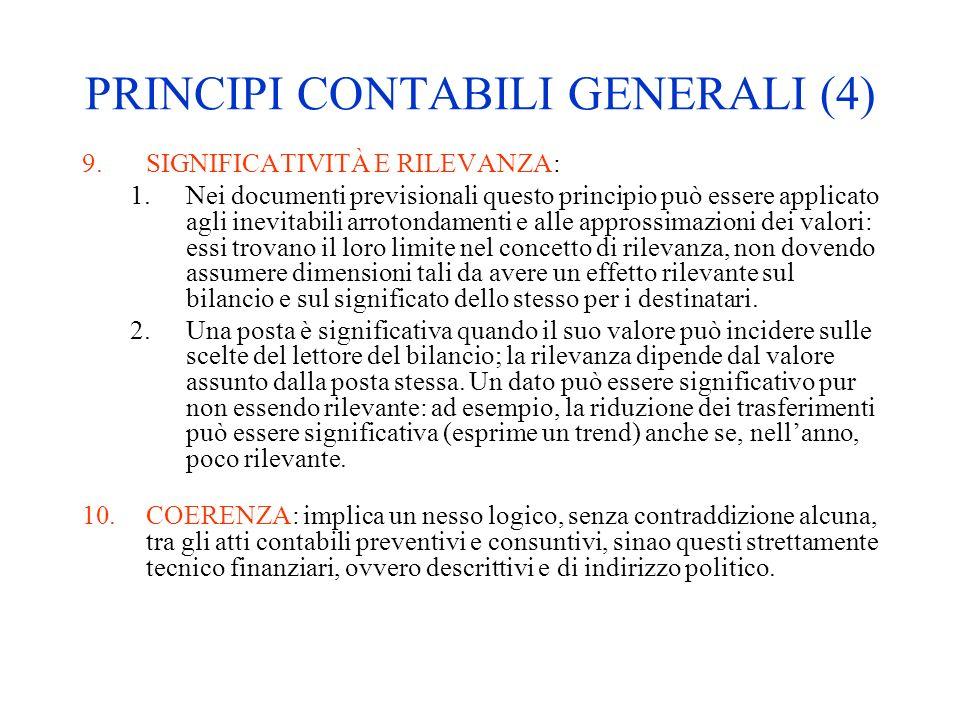 PRINCIPI CONTABILI GENERALI (4)