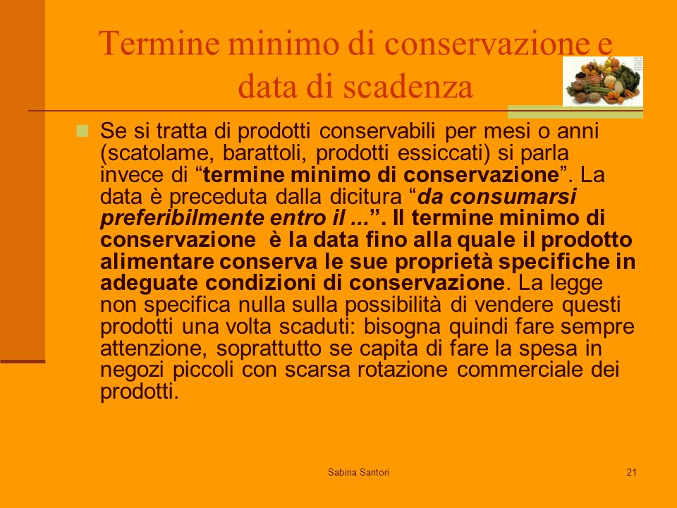 Termine minimo di conservazione e data di scadenza