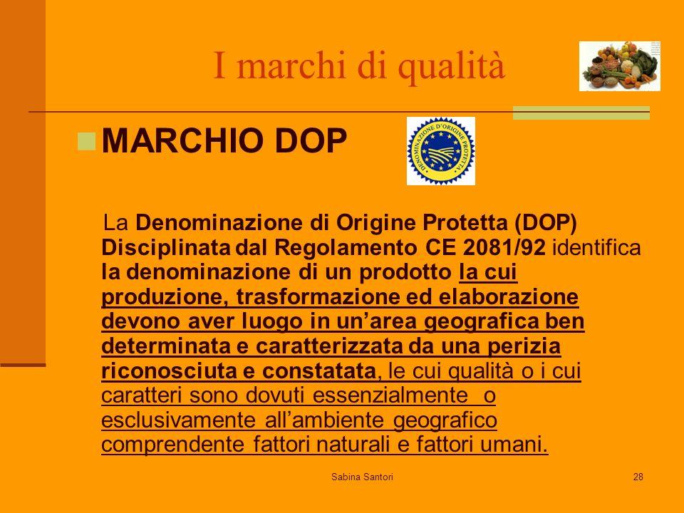 I marchi di qualità MARCHIO DOP