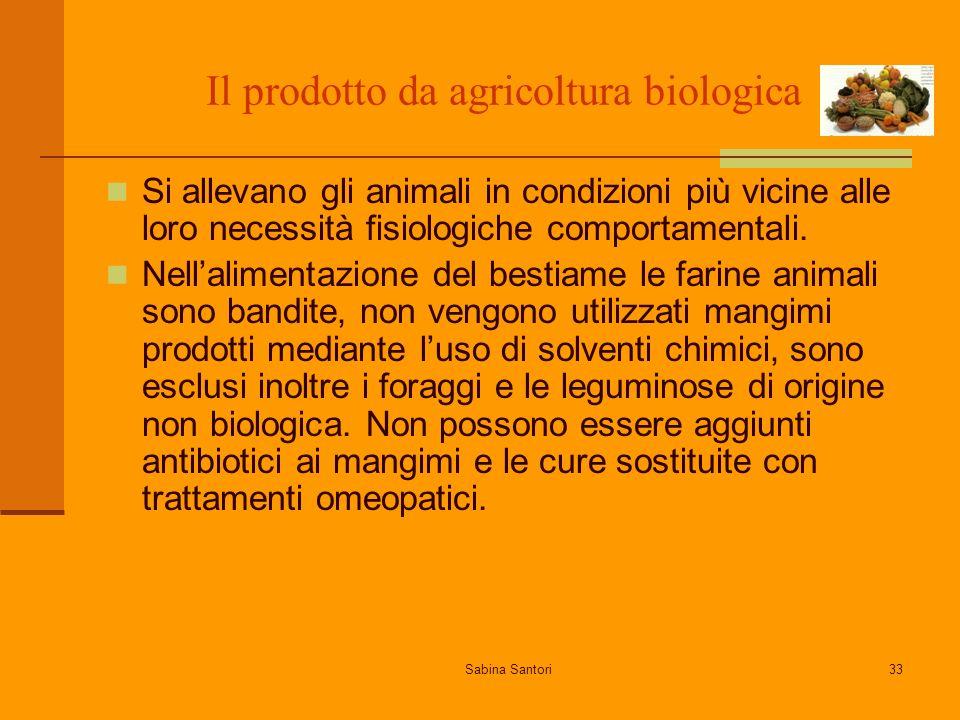 Il prodotto da agricoltura biologica
