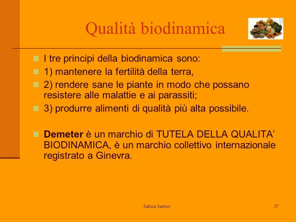 Qualità biodinamica I tre principi della biodinamica sono: