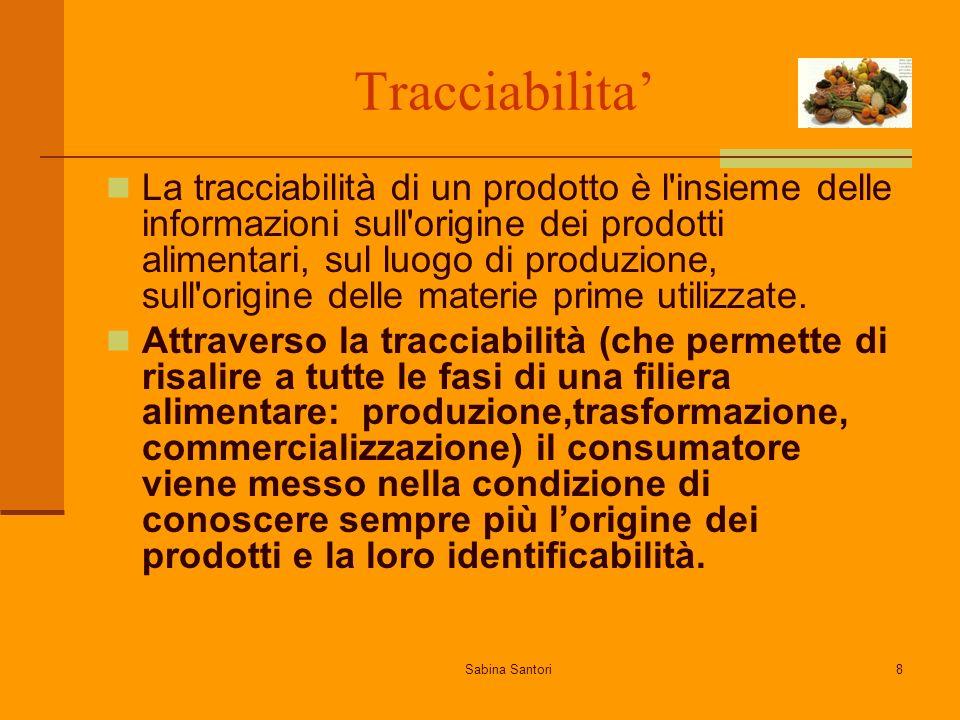 Tracciabilita'