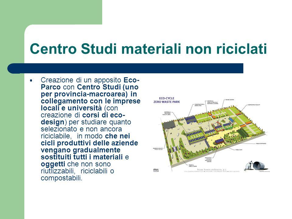 Centro Studi materiali non riciclati