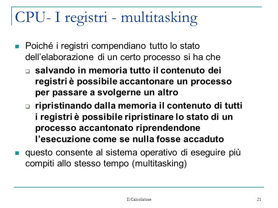 CPU- I registri - multitasking