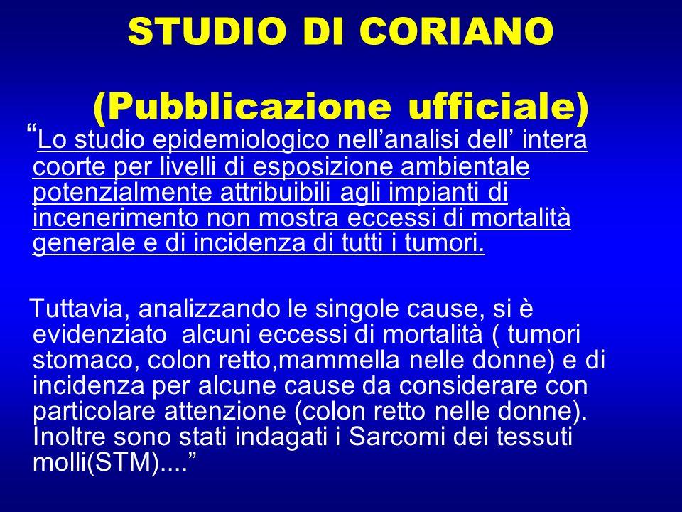 STUDIO DI CORIANO (Pubblicazione ufficiale)