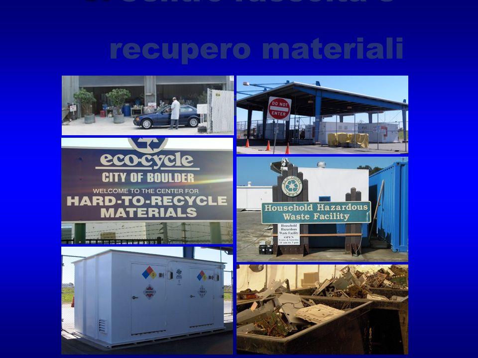 Centro raccolta e recupero materiali pericolosi