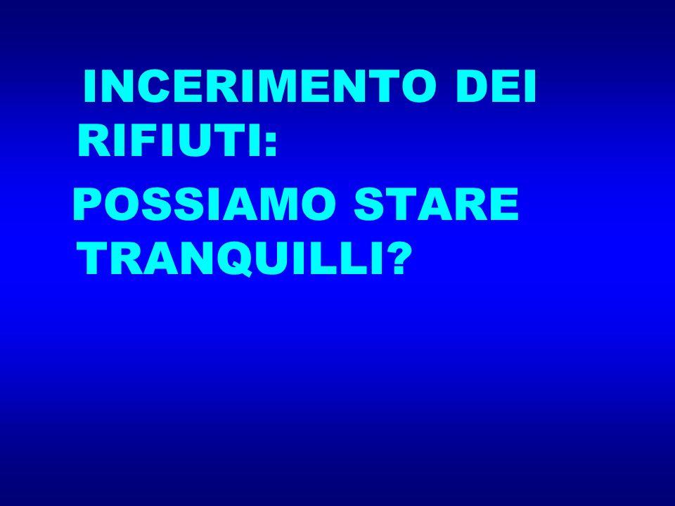 POSSIAMO STARE TRANQUILLI